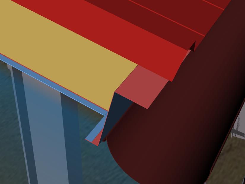 Finishing Plate On Roof Sandwich Panel Near Gutter Roof